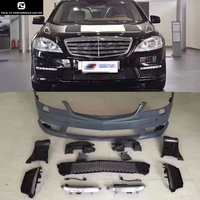 W221 S65 AMG style PP Unpainted front Rear bumper Side skirts racing grills for Mercedes Benz W221 Car body kit 07 13