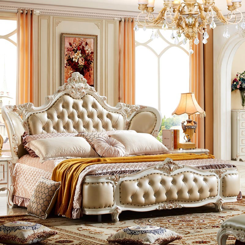 Luxury Bedroom Furniture Stores: Aliexpress.com : Buy High End Solid Wood Leather Bed