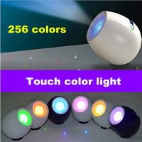 new Novelty 256 colors touch color ambient night light USB charging LED lamp Coffee shop/bedroom/Bedside decoration lighting