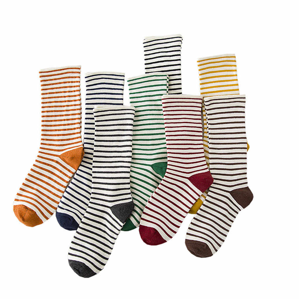 CHAMSGEND ใหม่ผู้หญิงญี่ปุ่นถุงเท้าผู้หญิงลายถุงเท้าถุงเท้าระบายอากาศสบายๆฝ้ายถุงเท้า