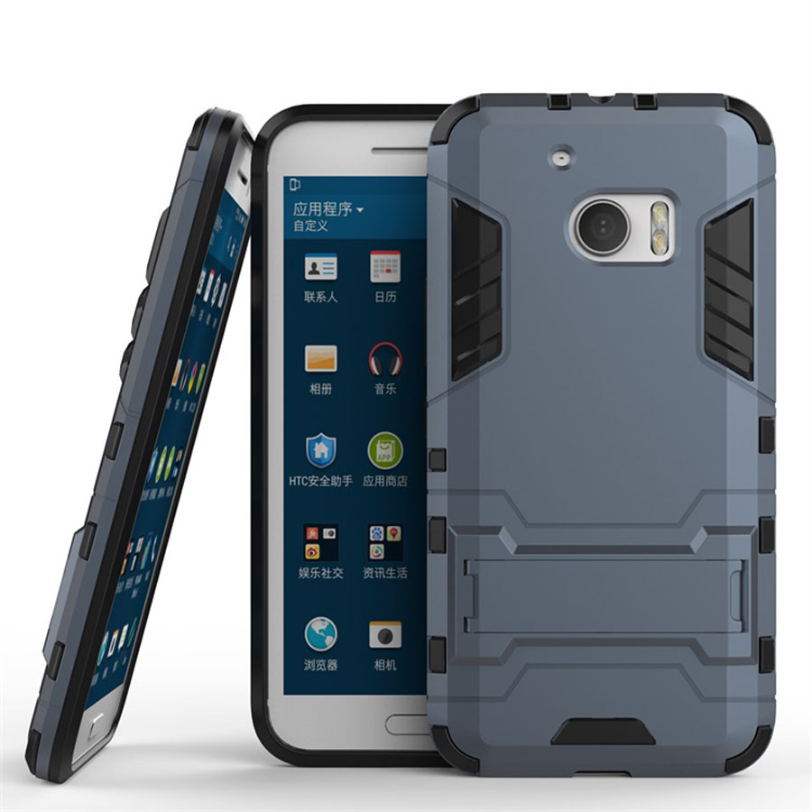new arrival 7d07b d9b08 Armor Back Cover for HTC M10 Desire 10 Lifestyle 10 Pro Case 2 in 1 Style  PC+TPU Fundas Kickstand Coque for HTC One M10