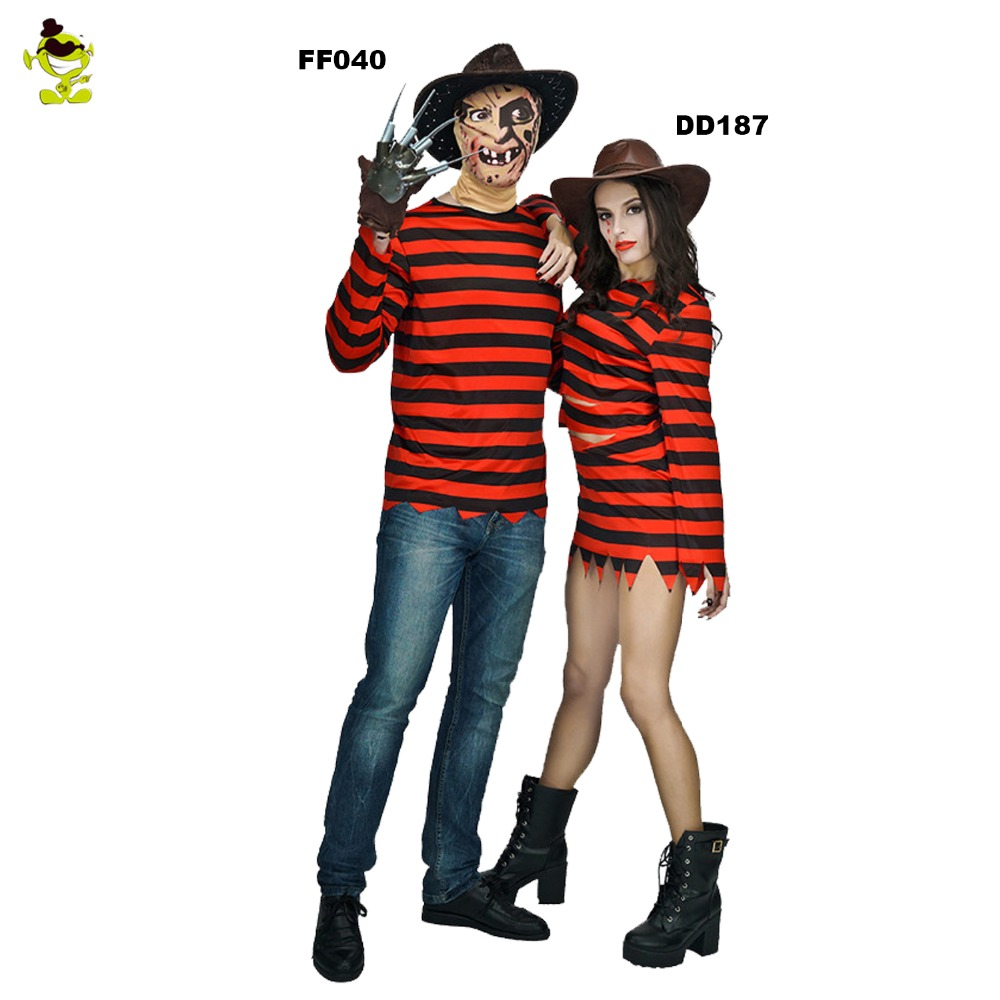 New arrivals Freddy killer costumes with claw halloween costume women dress man clothing couple sets for party cosplay kayak suit