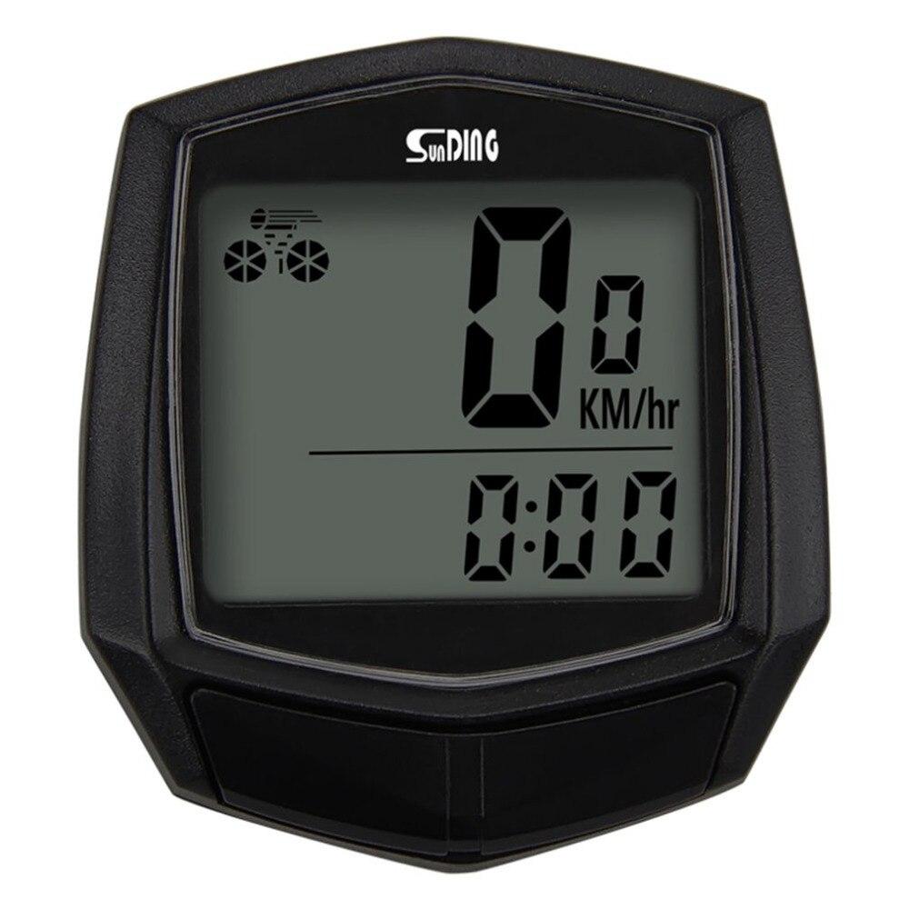 Sunding Sepeda Kabel Stopwatch Sepeda Komputer Multifungsi Speedometer Odometer Sensor Kolam Olahraga Aksesoris SD-581 Hitam