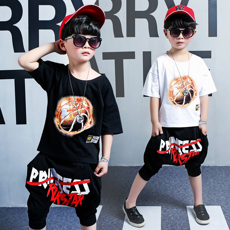 2018 Summer Kids Clothes Set Cotton Cartoon Style Baby Print Children Clothing Boys Set Short Sleeve Boy Clothing Set Kids Suit summer baby boys clothing set cotton animal print t shirt striped shorts sports suit children girls cartoon clothes kids outfit
