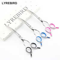 Pet dog grooming scissors 6.5 Inch Dog Curved scissors with Two Tails Right hand curve scissors Lyrebird HIGH CLASS NEW