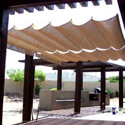 modern home sail roman shade wave sail 95u0027 x 10u0027 - Sun Shade Sail