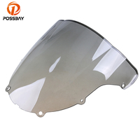 ABS Plastic Motorcycle Windscreen Windshield Bike Double Bubble Protectors For Kawasaki ZX6R Wind Deflectors Scooter Windscreen