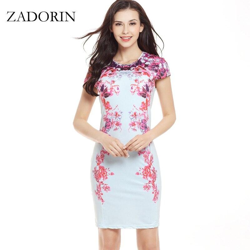 Vintage Květinový Krátký rukáv Bodycon Letní šaty Ženy Štíhlý Mini Party Šaty Bílé Neformální Šaty vestidos mujer