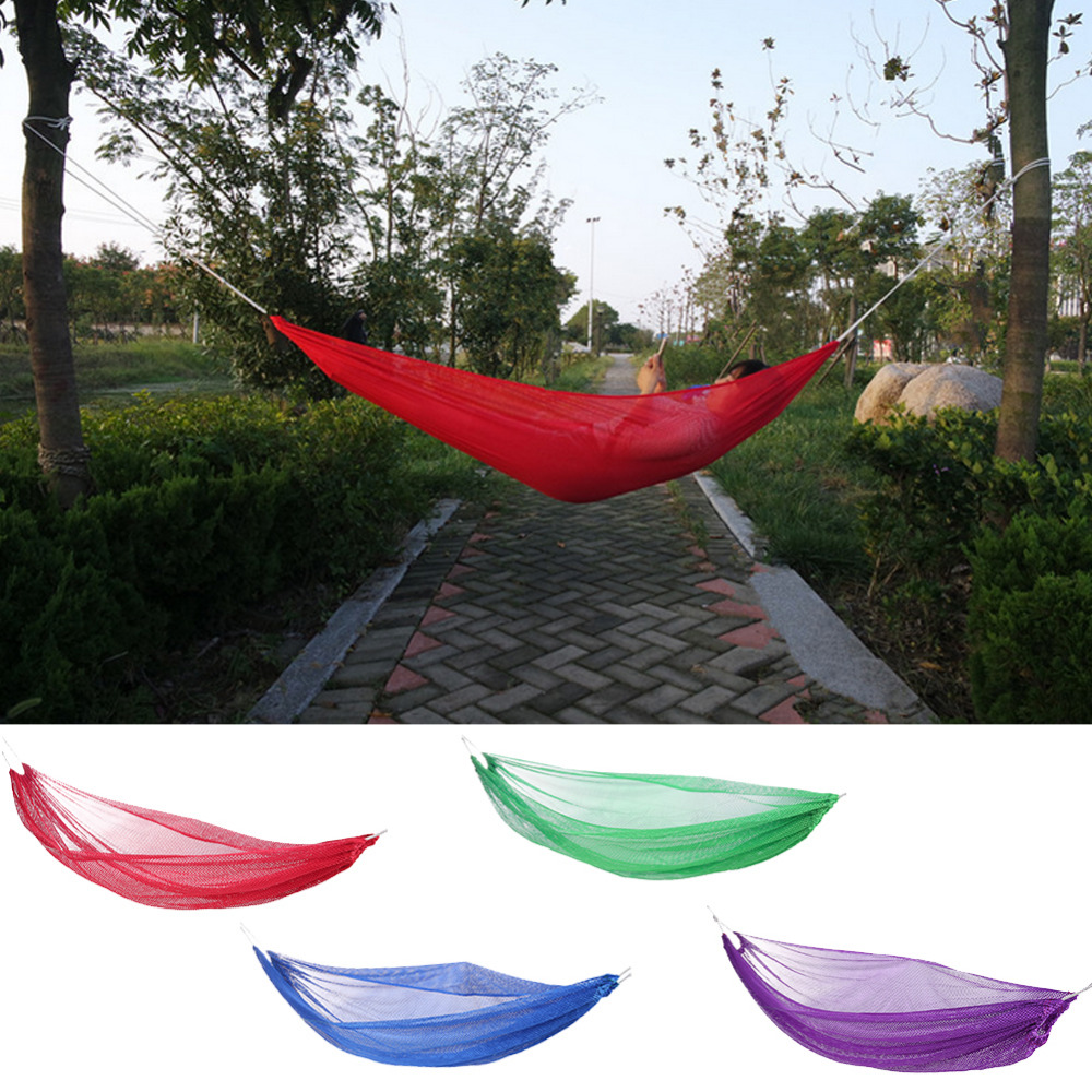 Portable Hamaca Outdoor Hammock One Person Garden Sport Leisure Camping Hiking Travel Hanging Bed Hammocks Hangmat Furniture camping hiking travel kits garden leisure travel hammock portable parachute hammocks outdoor camping using reading sleeping