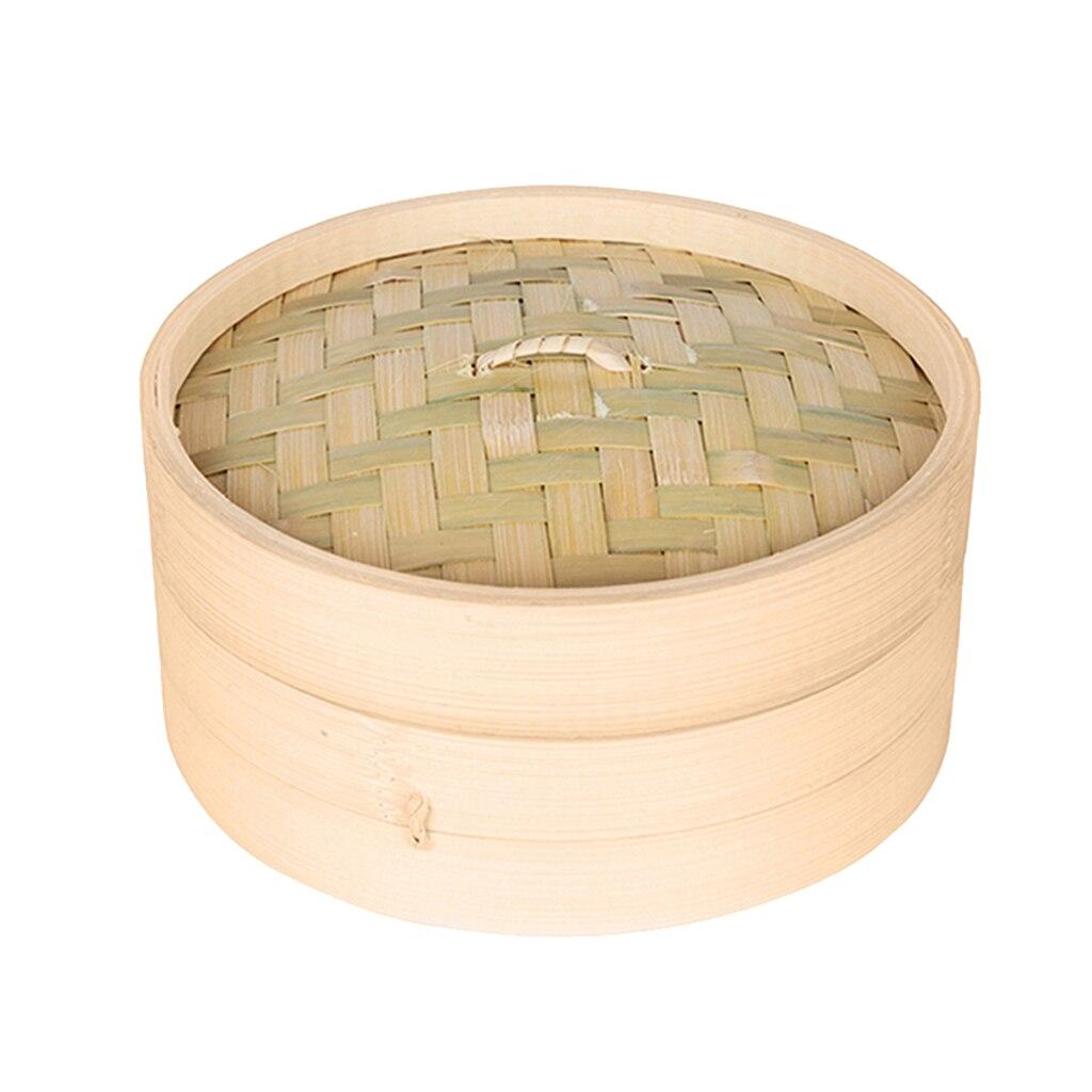 Kitchen Bamboo Steamer Basket Asian Food Steamer For   Sum Dumplings 3 Sizes To Choose