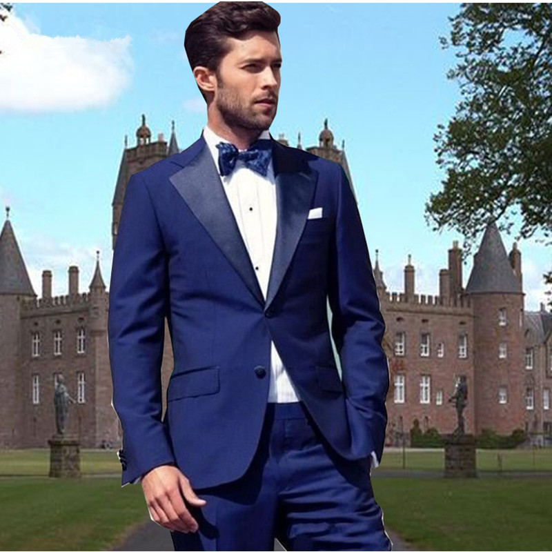 Latest Arrivla Bespoke Groomsmen Groom Tuxedos (Jacket+Pants) Terno Masculion Charcoal Mens Suits Wedding Prom Men Suit Set 2017