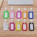 100X Aceptar la Orden de Encargo De Plástico PP Etiquetas de Equipaje Equipaje Facturado Marca de la tarjeta de tarjeta de Embarque 10 color Puede Imprimir Su LOGO