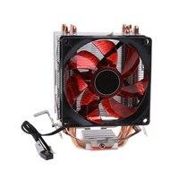 4 Heatpipe 130W Red LED CPU Cooler Fan Aluminum Heatsink For Intel 1156 AMD AM2 L059