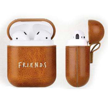 Hot Friends TV Mini Airpods Case Wireless Bluetooth Full Protective Headphone Box Friends Logo Portable Earphone Accessories