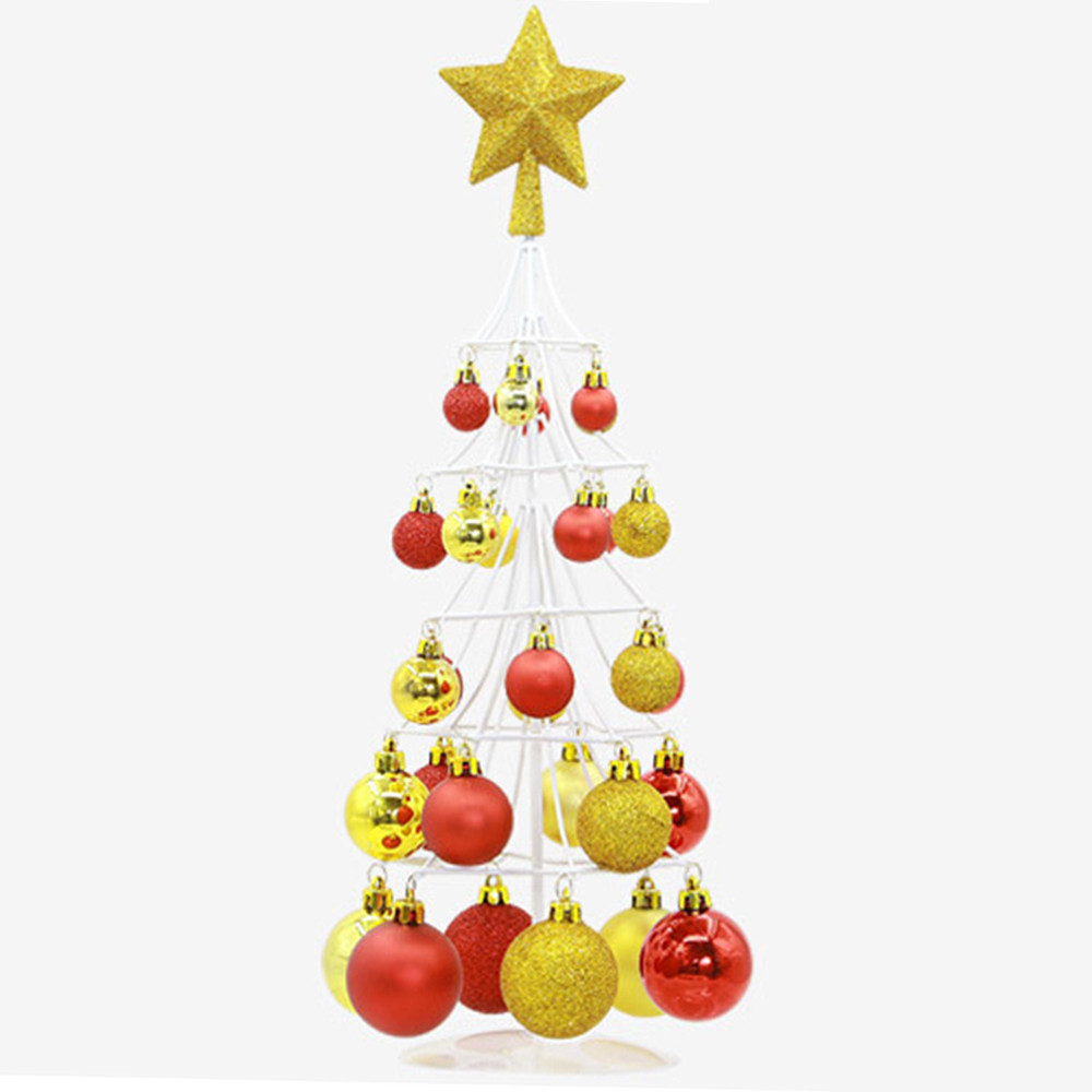 Miniature Christmas Ornaments.Us 20 21 33 Off Christmas Tree Decoration Miniature Christmas Ball Tower Tree Top Star Christmas Bag Ornament Christmas Decorations For Home Ws In