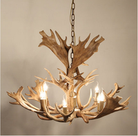Europe Country 8 Head Chandelier American Retro Lamps Resin Deer Horn Antler Lampshade resin antler chandelier Dia 1100mm
