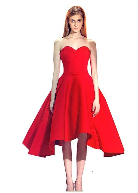 Aliexpress.com : Buy MDBRIDAL Short Red Prom Dress Strapless Lace ...