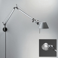 Silver Robot Arms Led Wall Light Rotating Led Wall Lamp Rock Wall Sconce E14 3W Led