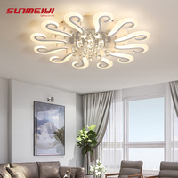 Modern LED Crystal Ceiling Lights Home Lighting Fixture Living room Bedroom plafonnier led Ceiling Lamp Rooms Luminare