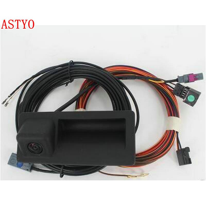 ASTYO MIB RCD330 Plus AV Rear View Camera RVC Reverse Parking Camera For Tiguan Jetta MK6 Passat B7 Touran