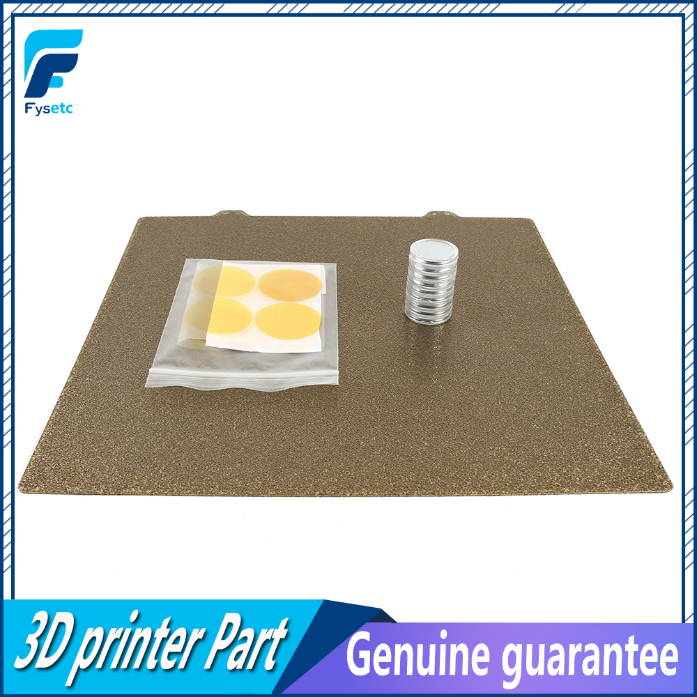 300x300mm Double Sided Textured PEI Spring Steel Sheet Magnet Being Magnetic Hot Bed Plate For Creality