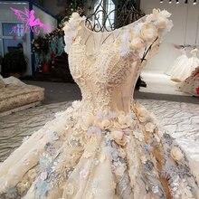 Aijingyu vestidos de fotos reais mulheres noiva em vestidos de casamento plus size venda vestido de casamento real couture