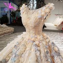 Aijingyuリアルフォトガウン女性花嫁にプラスサイズ結婚セールリアルクチュールのウェディングドレス