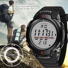 SYNOKE, мужские часы, 30 м, водонепроницаемые, электронные, светодиодный, цифровые, мужские, для улицы, мужские, s, спортивные, наручные часы, секундомер, Relojes Hombre