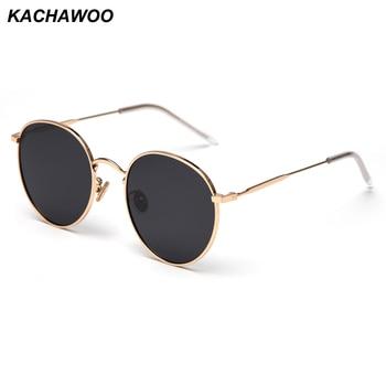 Kachawoo polarized sunglasses women 2019 man metal frame round sun glasses male driving red black accessories summer glasses