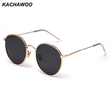 Kachawoo polarized sunglasses women 2019 man metal frame round sun glasses male driving red black accessories summer glasses