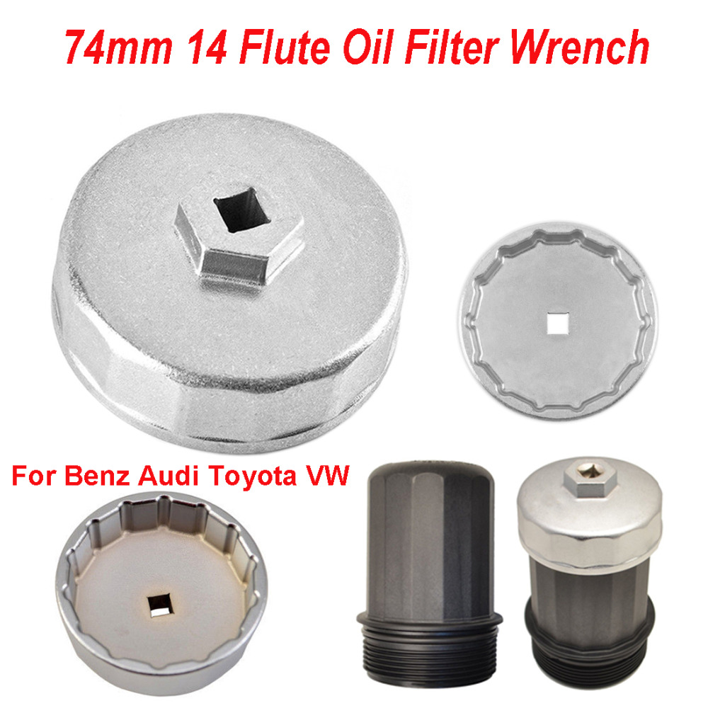 New Oil Filter Wrench Cap Housing Tool Removal 74mm 14 Flutes For Car BMW Audi