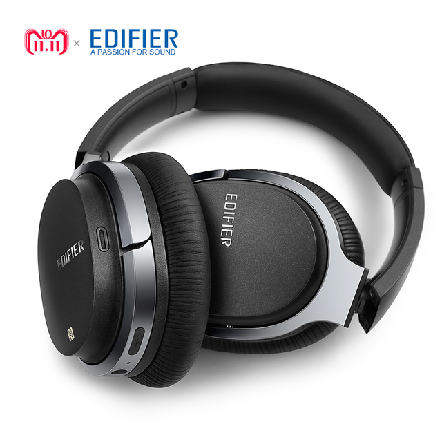 0de1a430a23 EDIFIER W860NB ANC Active Noise Cancelling Bluetooth Headphones Wireless  Over-Ear Bluetooth 4.1 Touch Control Headset NFC Apt-X