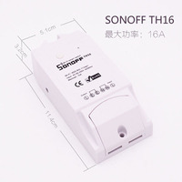 10A Sonoff TH Temperature Humidity Monitor WiFi Wireless Smart Switch Timer Controller For Home Phone APP