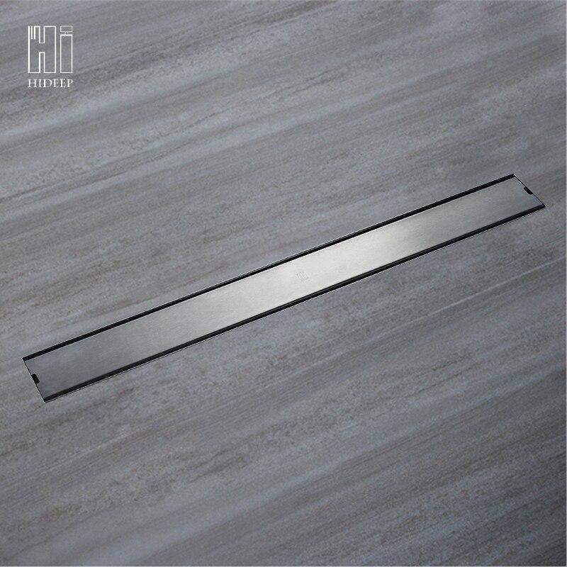 ESCONDER SUS304 Odor-resistente Dreno de Assoalho do banheiro Chuveiro Dreno de Assoalho de Aço Inoxidável Dreno de Assoalho Linear inserção telha