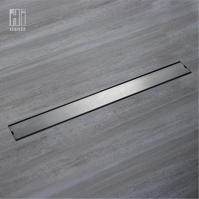 HIDEEP Odor Resistant Floor Drain Cover Rectangle SUS304 Stainless Steel Shower  Floor Grate Drain Linear ...