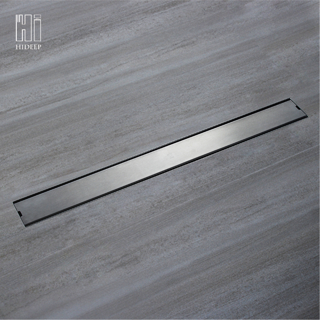HIDEEP Odor-resistant Floor Drain Cover Rectangle SUS304 Stainless Steel Shower Floor Grate Drain Linear Floor Drain
