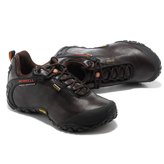 dc639bdf224 Merrell Original GORE-TEX Outdoor Men's Camping Genuine Leather Hiking  Shoes for Male Coffee Mountaineer Climbing Sneakers 39-46