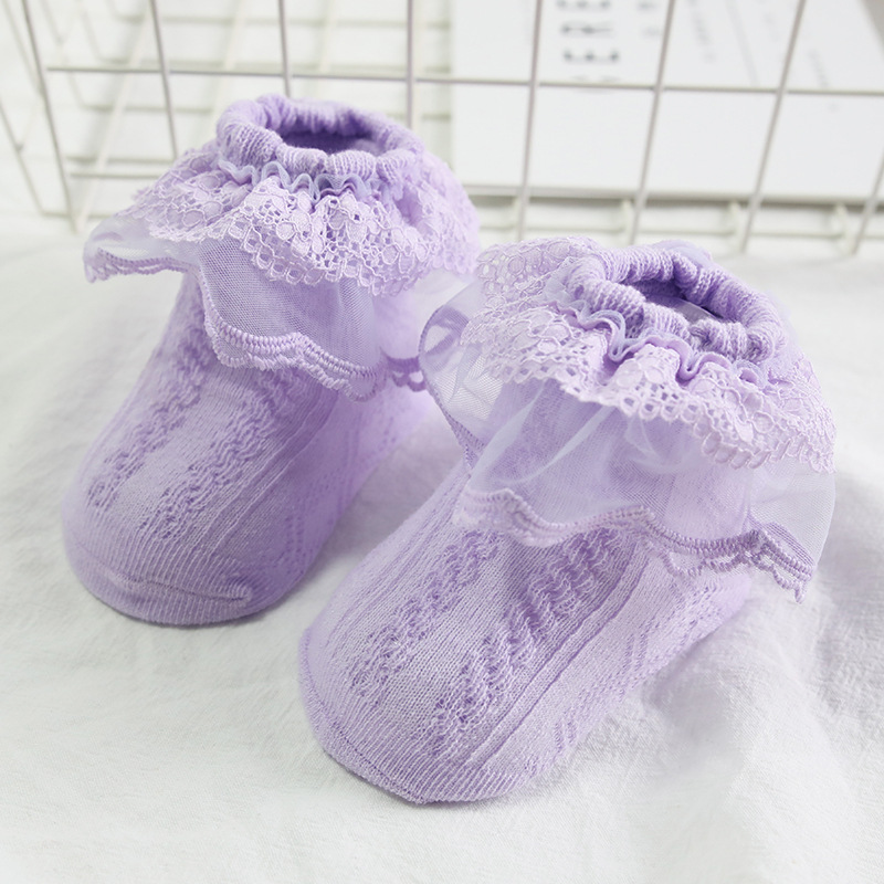 Newborn Christening Winter Warm high quality Cotton Baby Girl Sock Kids Ruffled Knitted short Lace Baby Sock clothing accesories in Socks from Mother Kids
