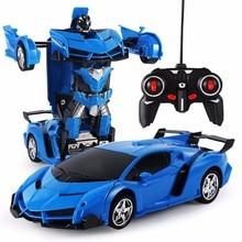 RC полицейский игрушечный автомобиль Трансформация Роботы спортивный автомобиль модель роботы игрушки крутая деформационная машина детские игрушки подарки для мальчиков
