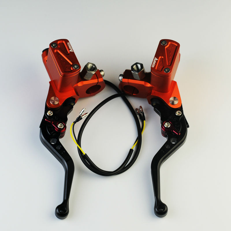 NEW orange PX6 hydraulic clutch cnc universal motorcycle brake master cylinder e-bike brake clutch levers automatic power