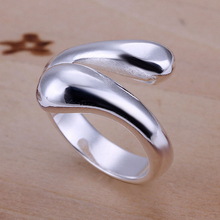 Unisex Silver Plated Double Ring