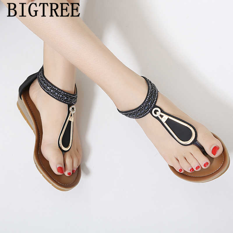 Sexy sandálias sandálias boêmio sandálias de strass moda sandálias romanas cunhas sapatos para as mulheres zapatos teenslippers cuña