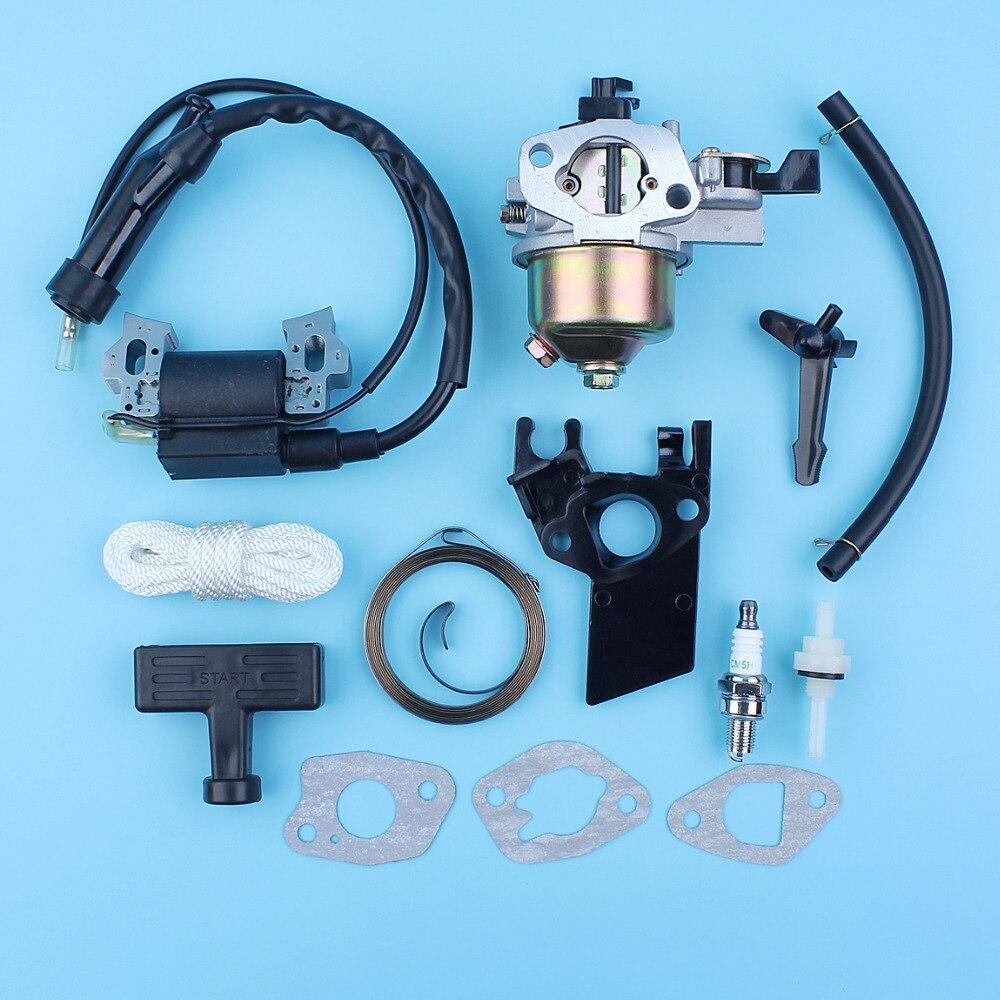 5 Choke For 168F GX160 GX200 Honda Spring Rod Coil Kit Engines Generator Gasket 170F 6 Ignition Starter Grip 5HP 5HP Carburetor