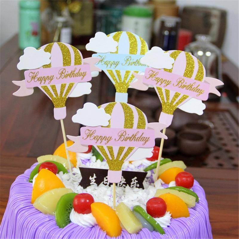 Pleasing Cute Birthday Cake Decoration Hot Air Balloon Baking Cake Topper Funny Birthday Cards Online Alyptdamsfinfo