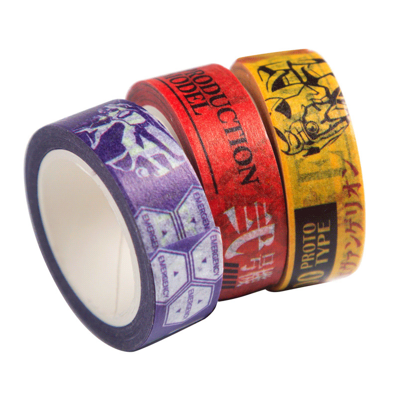 Japanese Anime Evangelion EVA Washi Tape Adhesive Tape DIY Scrapbooking Sticker Label Masking Tape Toys Gift Клейкая лента