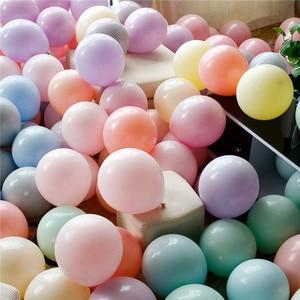 Image 1 - 30/50 Uds. De 5 globos de macarrón de látex para decoraciones para fiesta de cumpleaños, baby shower, boda, grandes suministros para eventos