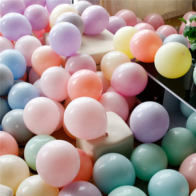 30/50pcs 5incs Macaron balloons latex smal Ballons for Birthday party  decorations baby shower Wedding Grand event supplies