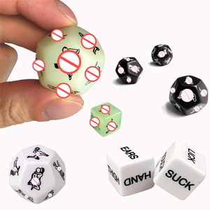 6Pcs Funny Sex Dice 6-12 Side Erotic Toys No Vibrator Craps Sex Glow Cube Love Dice Toys Adult Sex Toy Noctilucent Couples Dice(China)