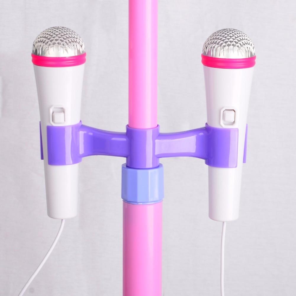 Surwish-Kids-Karaoke-Machine-with-2-Microphones-Adjustable-Stand-Music-Play-Set-As-Christmas-Gift-4