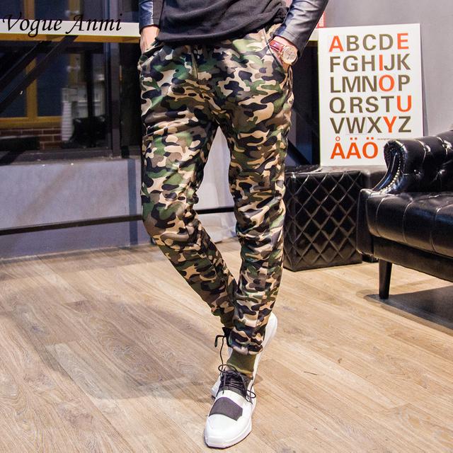 Vogue Anmi. Hombres de Moda del Camuflaje Pantalones Harem Pantalones Para Hombre Casual Pantalones Largos Tamaño Mens Joggers M-2XL